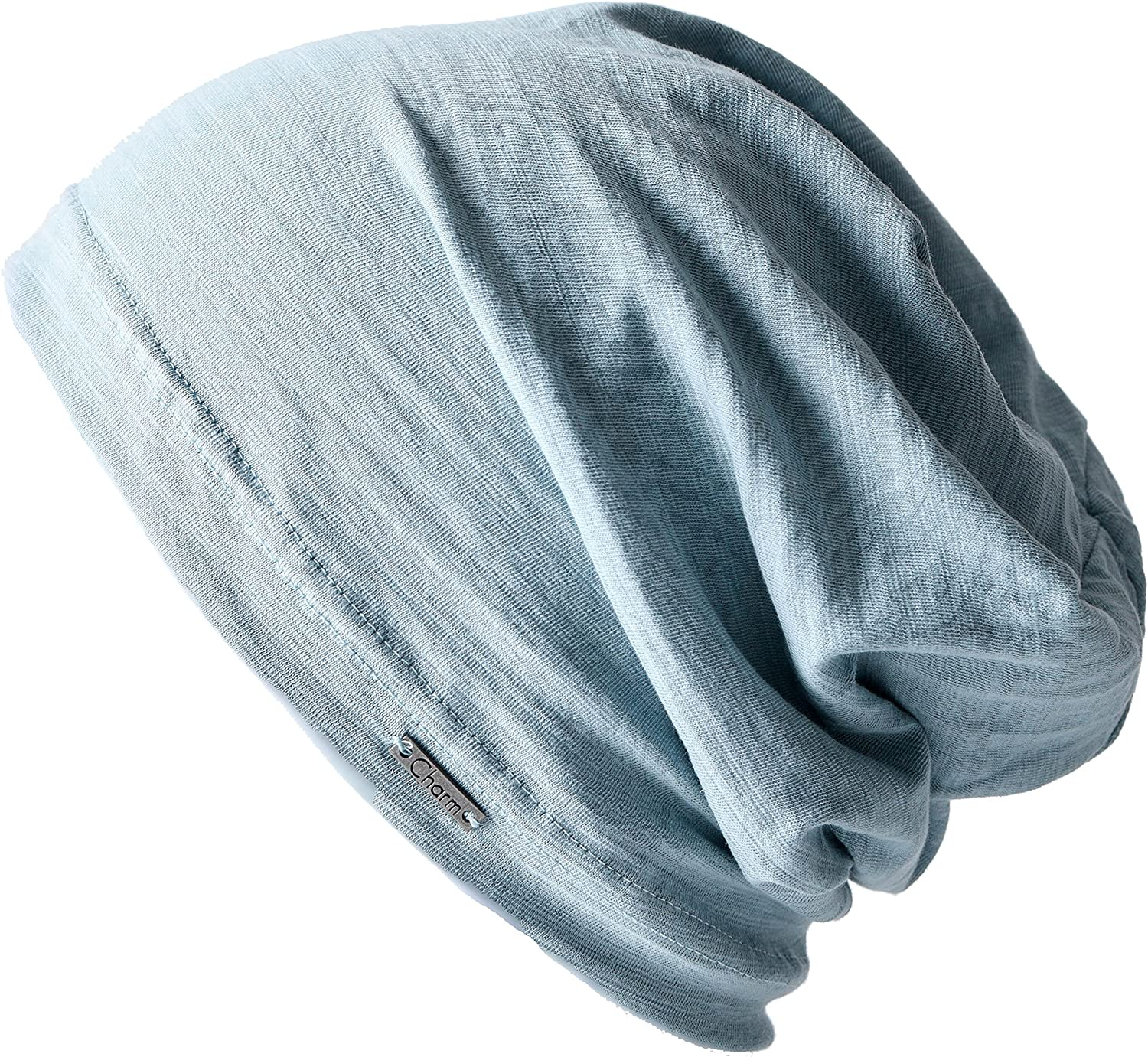 CHARM Summer Beanie for Men & Women - Slouchy Lightweight Chemo Cotton Hipster Fashion Knit Hat