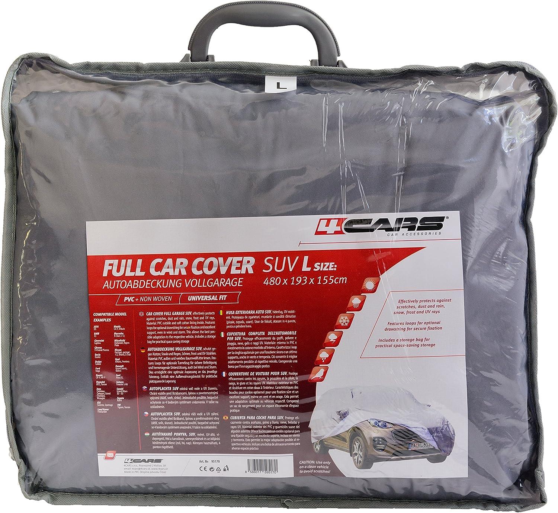 Housse de Protection pour SUV 480 * 193 * 155 cm R/ésistant aux Rayures Anti-poussi/ère et UV /à Toute /épreuve imperm/éable L Ajustement Universel Durable 4CARS Couverture de Voiture