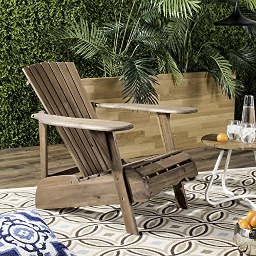 Safavieh PAT6700G Outdoor Collection Mopani Rustic Brown Side Chair