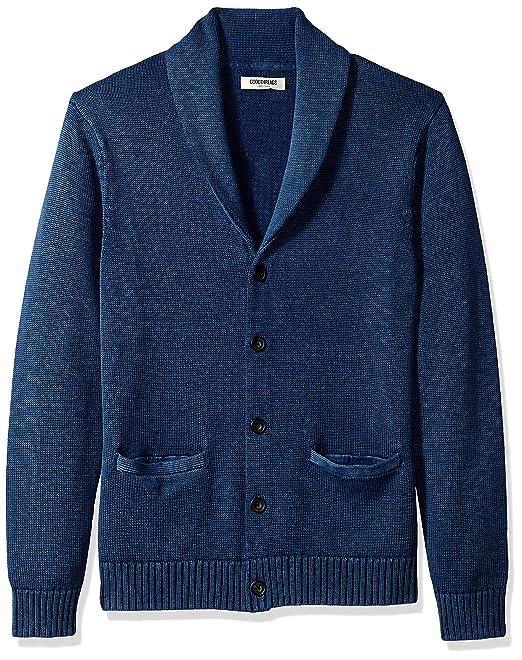 Goodthreads Soft Cotton Shawl Cardigan Sweater Sudadera, Azul (Washed Blue Wbl), XXXXXX-Large: Amazon.es: Ropa y accesorios