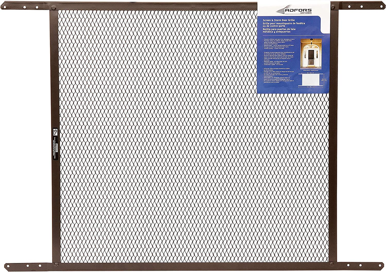 """ADFORS Screen & Storm Door Grille, 24"""" x 26"""" x 34"""", Brown"""
