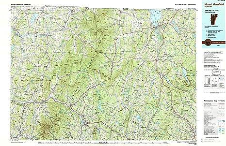 Amazon.com : Mount Mansfield VT topo map, 1:100000 scale, 30 X 60 ...