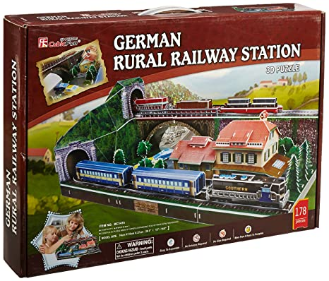 Amazon com: 3D Puzzle - German train station (Difficulty: 8