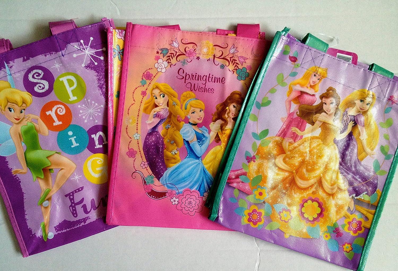 Assorted Styles Randomly Chosen 8 X 10 X 5 Set of 8 Disney Friends Laminated Tote Bags