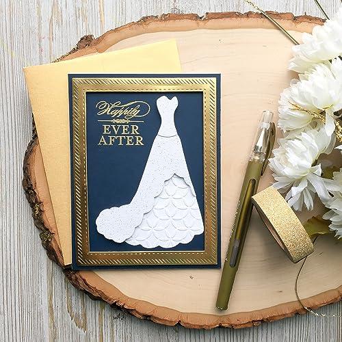 bridal shower card gold bridal shower card handmade bridal shower card wedding shower