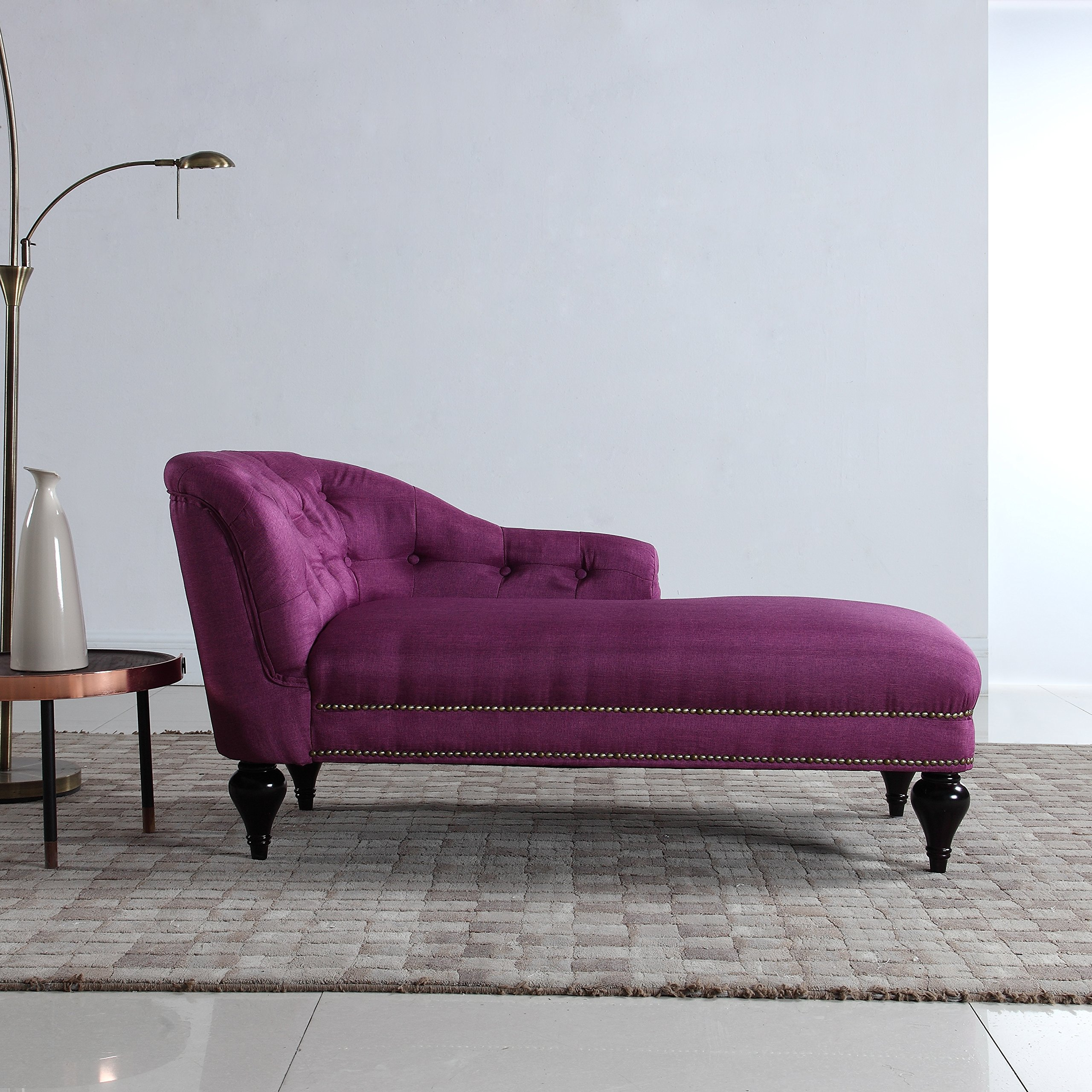 Modern and Elegant Kid's Chaise Lounge for Living room or Bedroom (Rose Red)