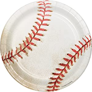 Baseball Dessert Plates, 24 ct