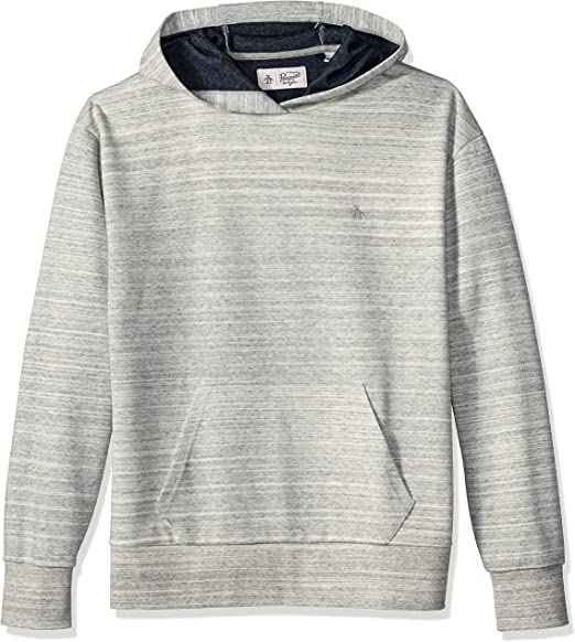 Original Penguin Mens Big and Tall Long Sleeve Hooded Knit