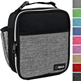 OPUX Premium Thermal Insulated Mini Lunch Bag | School Lunch Box For Boys Girls Kids Adults | Soft Leakproof Liner | Compact Lunch Pail for Office (Heather Gray)