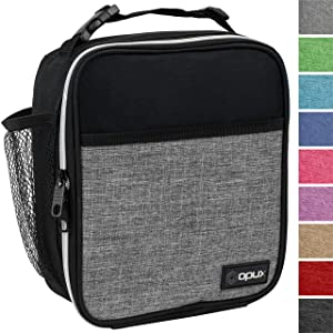 OPUX Premium Insulated Lunch Box | Soft Leakproof School Lunch Bag for Kids, Boys, Girls | Durable Reusable Work Lunch Pail Cooler for Adult Men, Women, Office – Fits 6 Cans (Heather Grey)