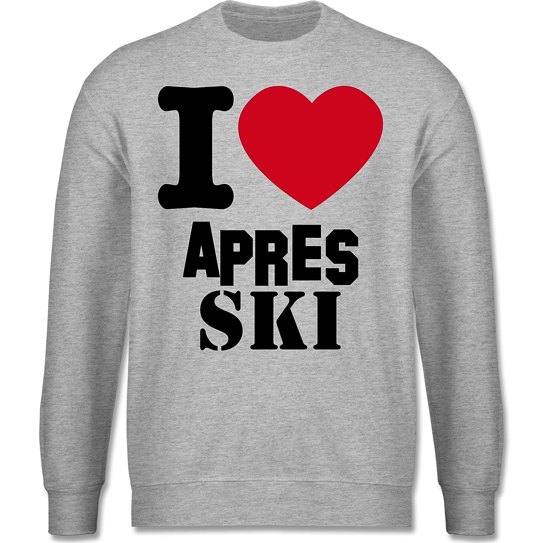 Après Ski - I Love Apres Ski - schlichter Herren Pullover