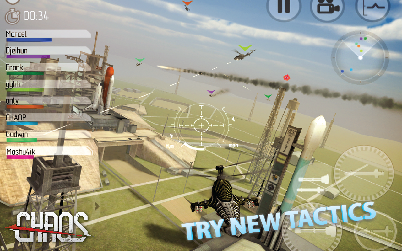 Amazon Com Chaos Combat Copters 1 Multiplayer Helicopter Simulator Appstore For Android