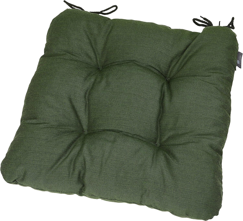 BEAUTEX Stuhlkissen 38x38x8 cm weiche Sitzauflage Farbe w/ählbar Kissen Polster Sitzkissen gesteppt Bordeaux