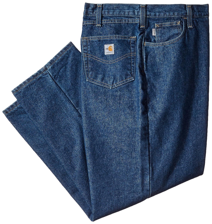 Carhartt Men's Big & Tall Flame Resistant Lined Utility Denim Jean