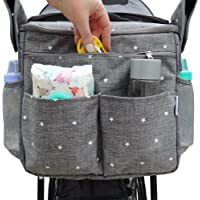 Insulated Stroller Organizer by Ozziko. Universal Design - Fits All Baby Strollers. Large Parents Console Bag with Cup…