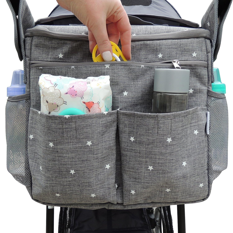 2d015f9cf8 Amazon.com : Parents Stroller Organizer Bag - Fits All Baby Stroller  Models. Travel Bag with Shoulder Strap for Carrying Bottles, Diapers, Toys  & Snacks.