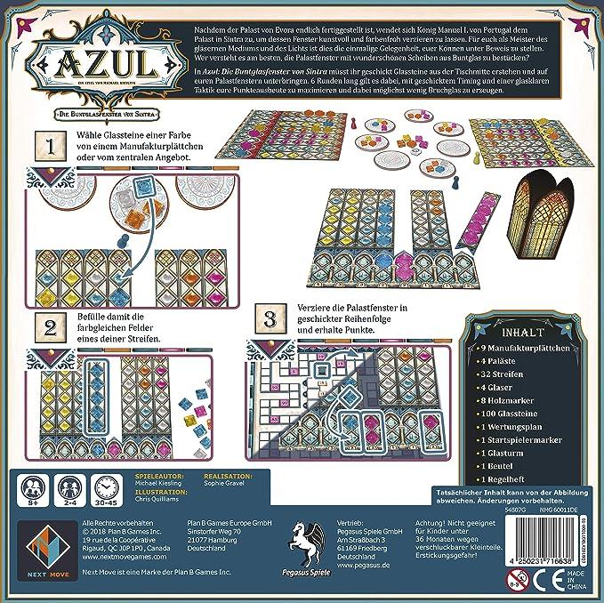 Azul Die Buntglasfenster von Sintra Next Move Games Pegasus Spiele Game Spiel