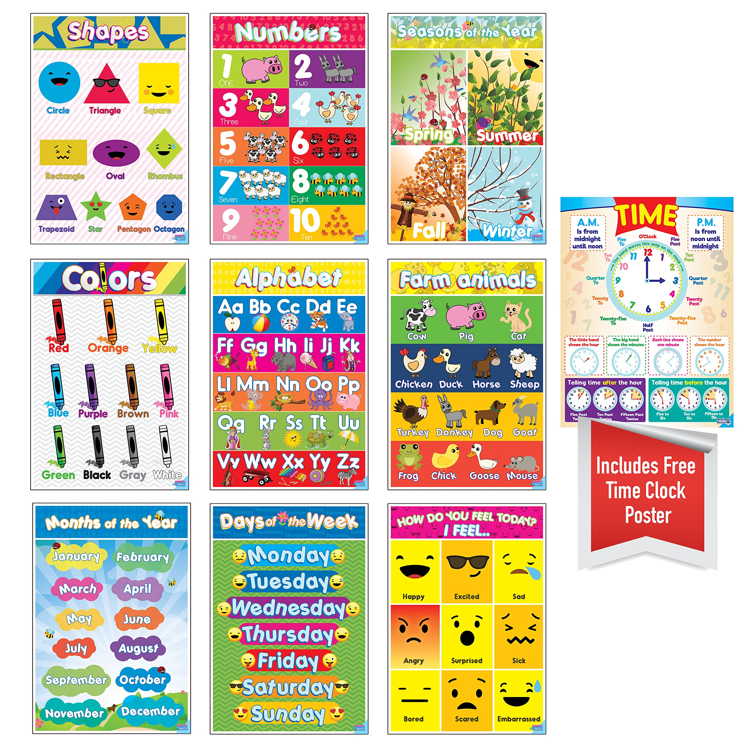 best color posters for classroom amazon com