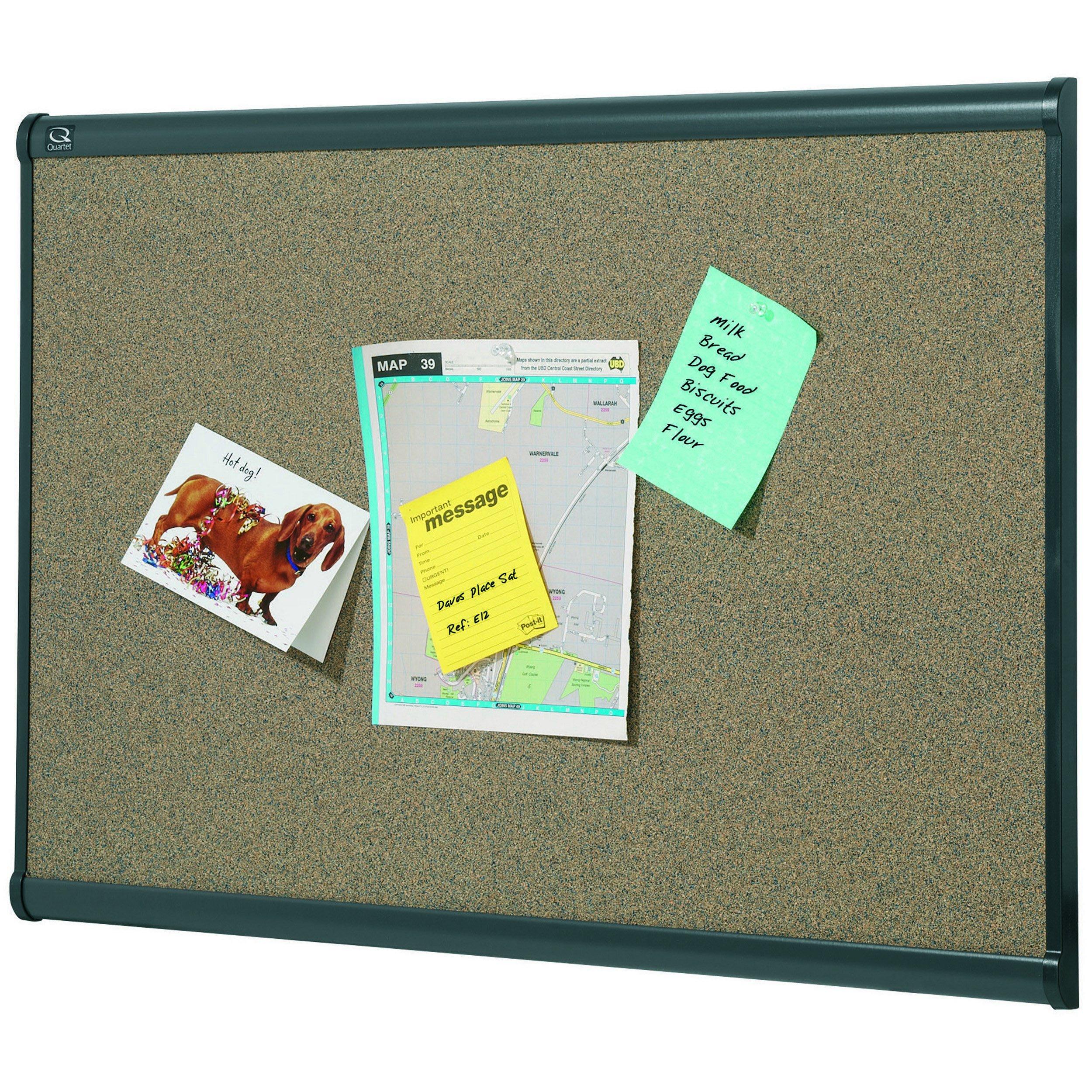 Quartet B247G Prestige Bulletin Board, Graphite-Blend Cork, 72 x 48-Inches