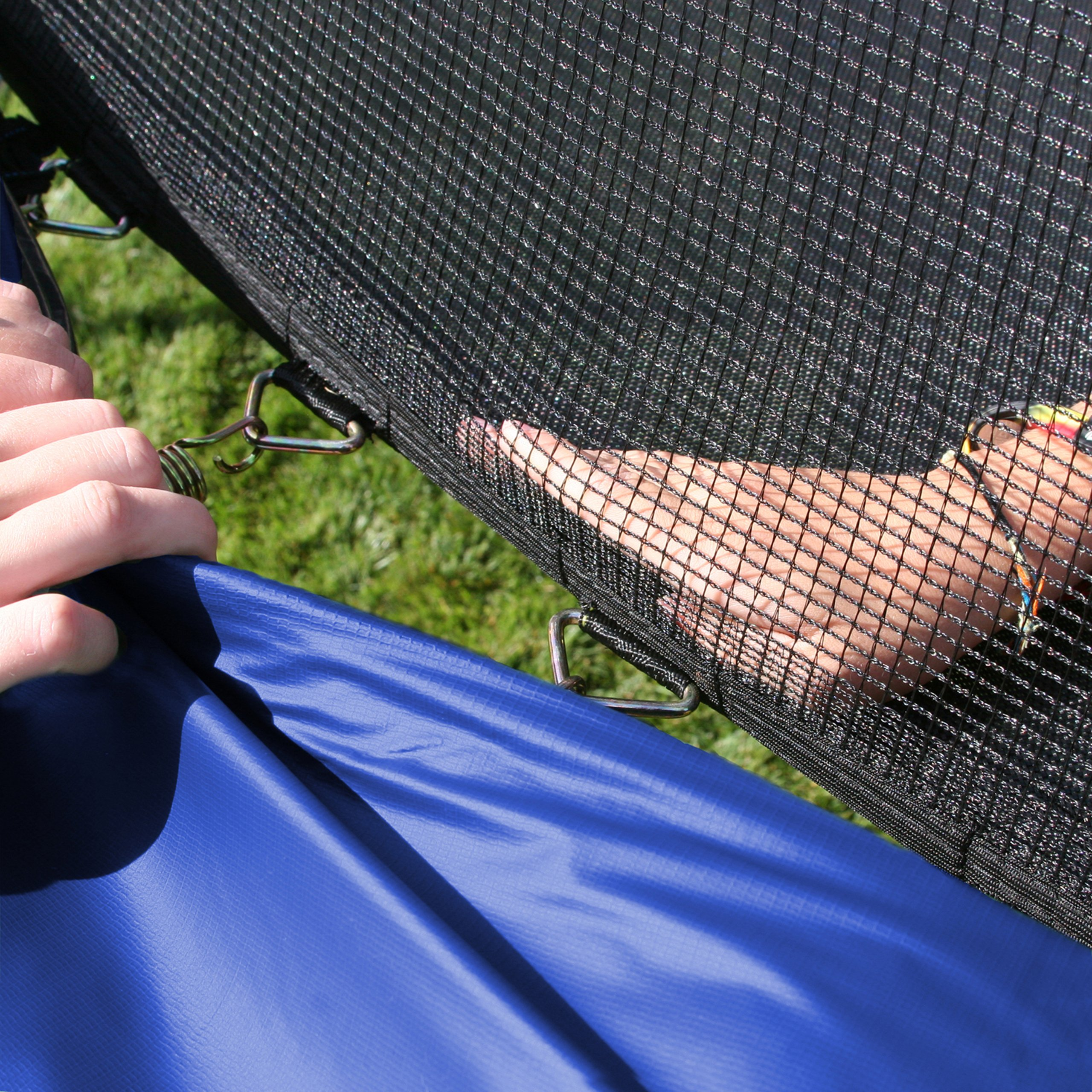 Skywalker Trampolines 12-Feet Round Trampoline and Enclosure with Spring Pad, Blue by Skywalker Trampolines (Image #2)