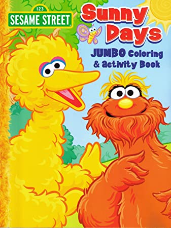 sesame street coloring activity book cover art and activities vary - Coloring And Activity Books