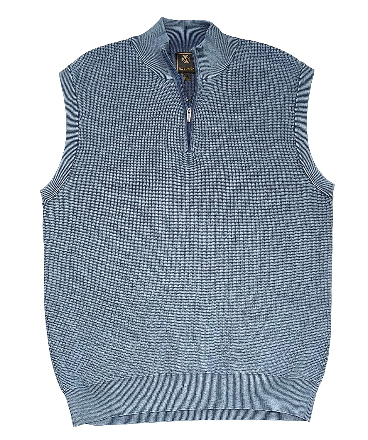 F//X Fusion Baby Thermal Sandwashed 1//4 Zip Sweater Vest