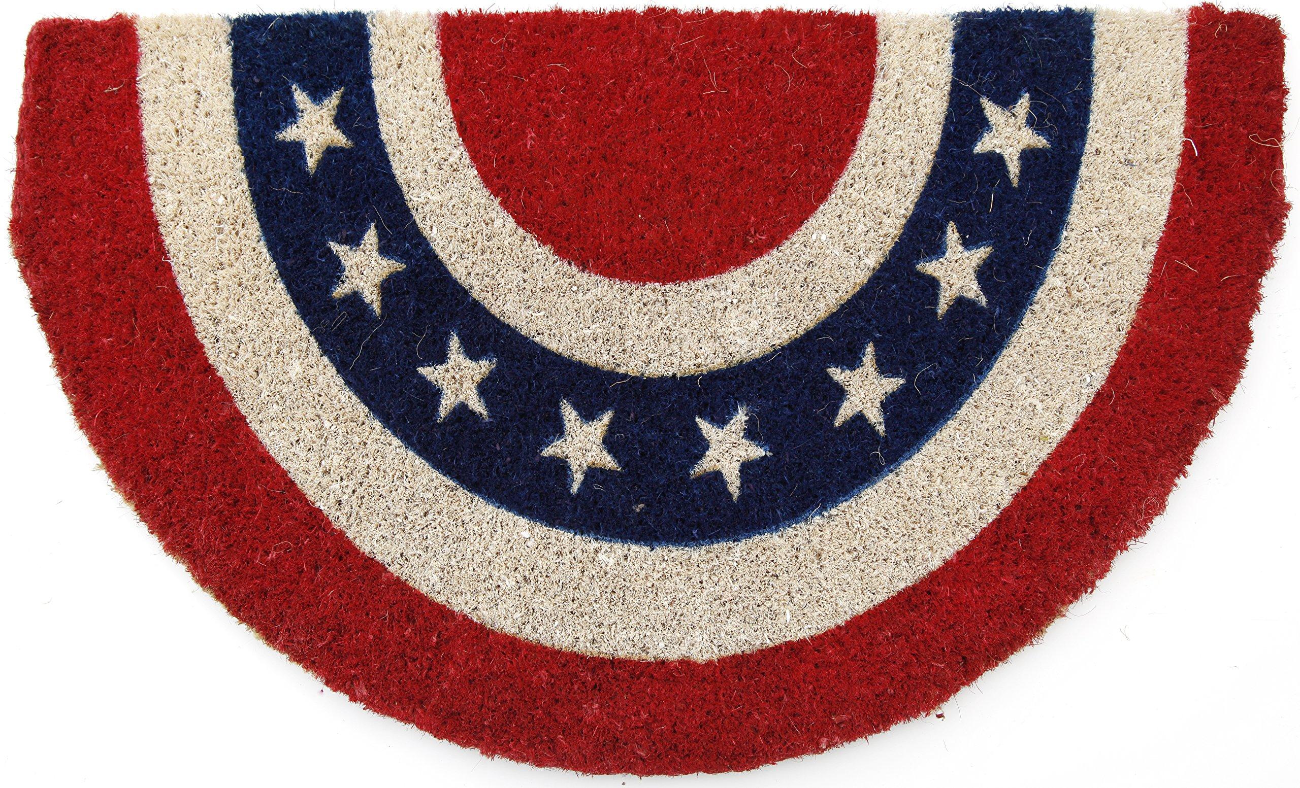 Entryways Americana, Hand-Stenciled, All-Natural Coconut Fiber Coir Doormat 18'' X 30'' x .75''