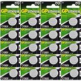 Batterien CR2025 CR 2025 (CR2025e) 3v Knopfbatterien / Lithium Knopfzellen 3 Volt für Uhren und verschiedenste Geräte- und Verbraucheranwendungen, (20-er Pack GP Markenware, Batterien einzeln entnehmbar)