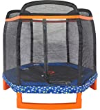 "Jump Power 88"" Hexagon ""ASTM Safety Approved"" Kids Indoor/Outdoor Trampoline & Safety Net Enclosure Combo"
