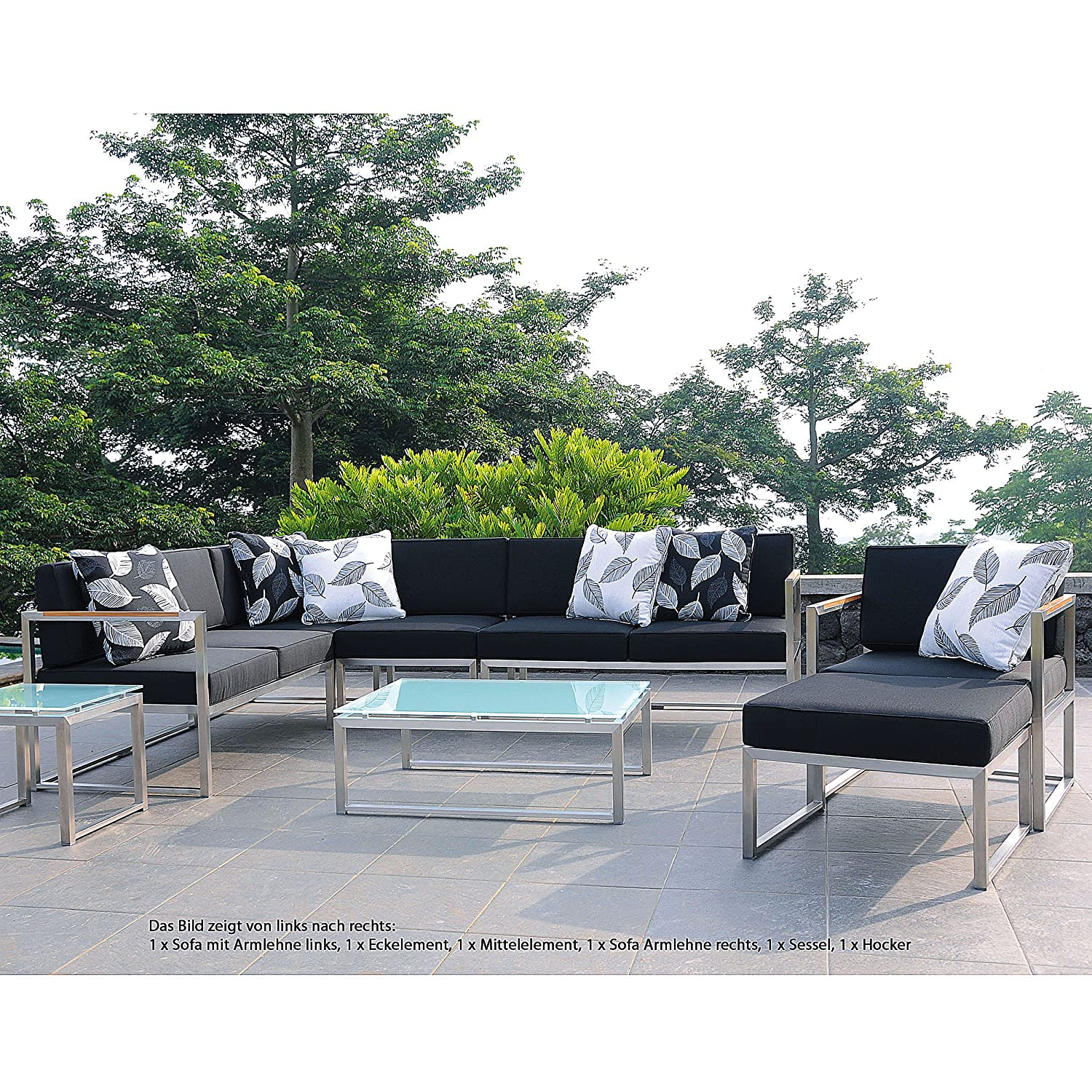 Lux Lounge Mittelelement 67 x 67 cm, h 62 cm taupe
