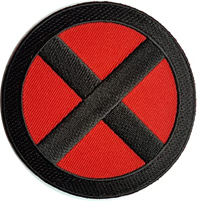 x men storm red black x 3 25 logo applique costume cosplay patch rh amazon co uk red and black logo answers logo black bay red
