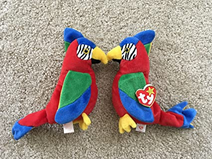 0888d5180aa Image Unavailable. Image not available for. Color  Jabber the Parrot - TY  Beanie Baby ...