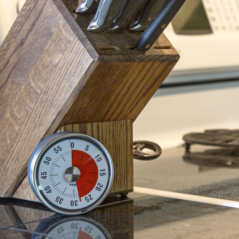 TFA 38.1028.10 Avisador de Cocina de Metal, Negro, Gris