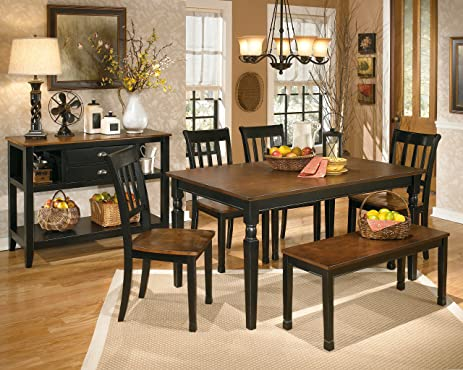 dining room server. Ashley Furniture Signature Design  Owingsville Dining Room Server Vintage Casual Black Brown Amazon com
