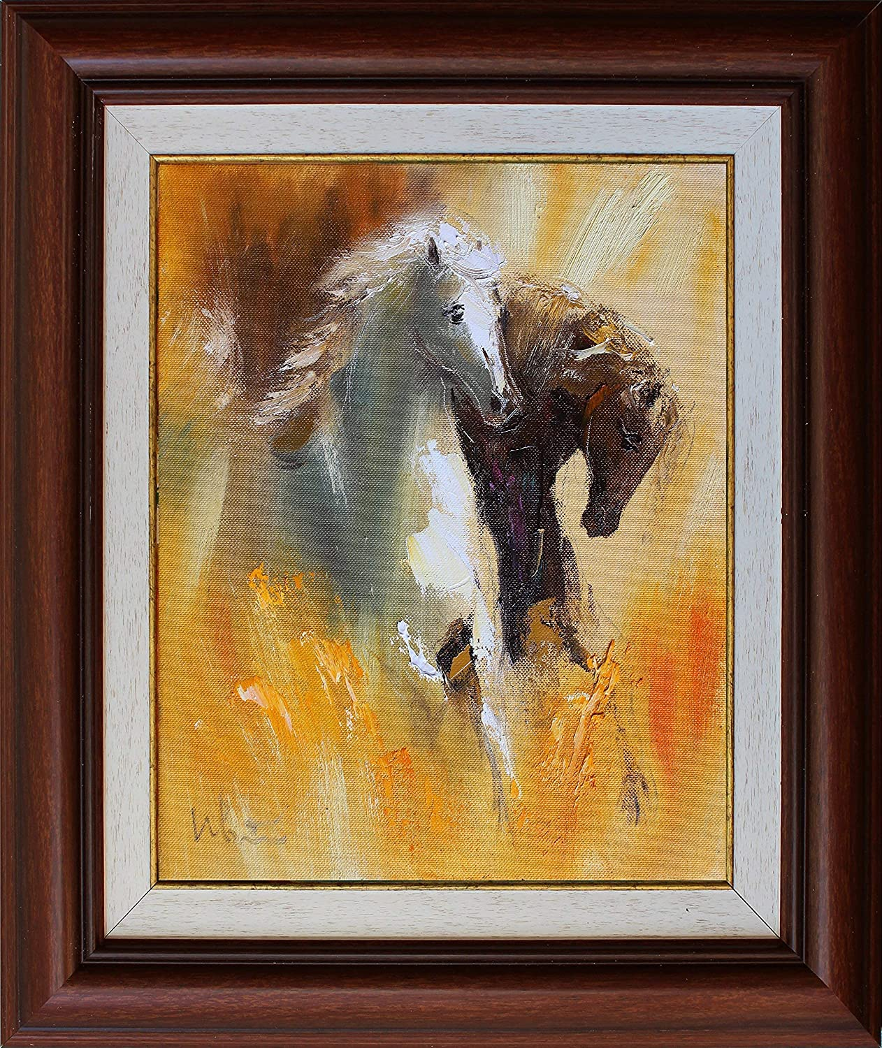 Amazon Com Horse Oil Painting On Canvas Original Wall Art