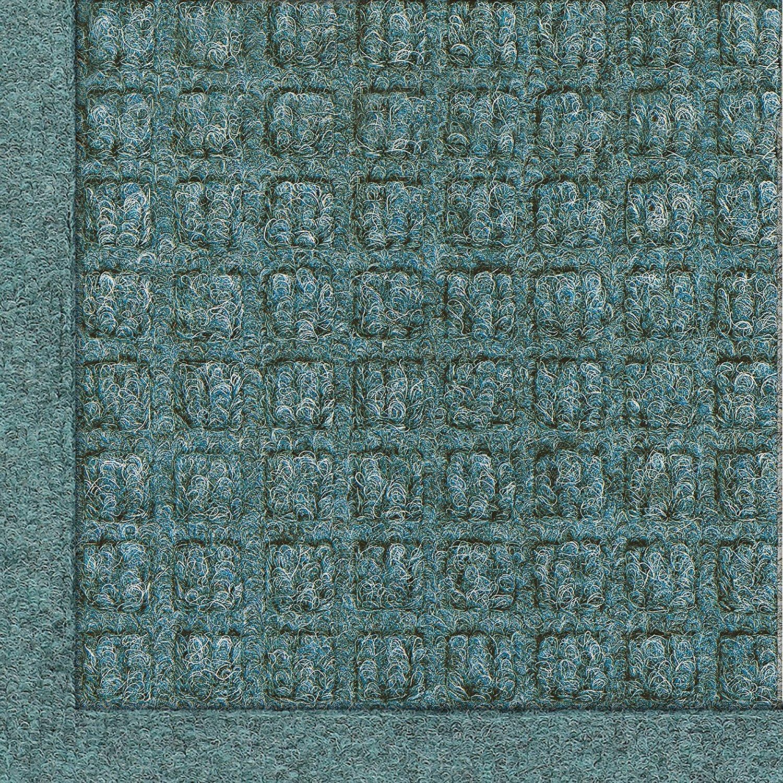 Hudson Exchange 4200 Waterhog Fashion Floor Mat Runner, 60'' L x 22'' W, 3/8'' Thick, Bluestone