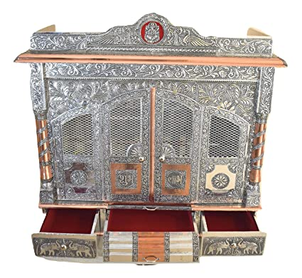 Amazon Com Desi Bazar Pooja Mandir For Home Indian Hindu Temple