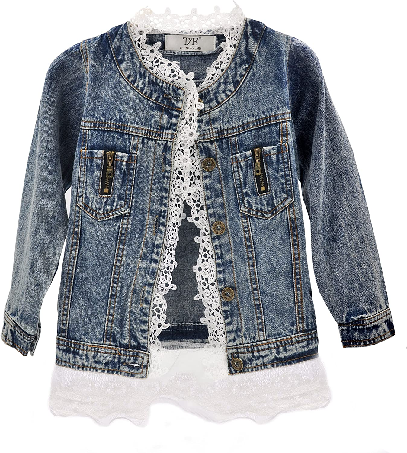 Unisex Kids Toddler Denim Jacket Casual Button Jean Jacket Fall Coat Clothes Top