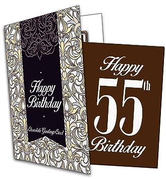 Alles Gute Zum 55 Geburtstag QuotHappy 55th Birthdayquot Chocolate Card