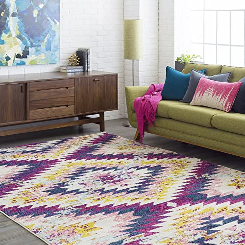 Tara Purple Bohemian Global Area Rug 2 x 3