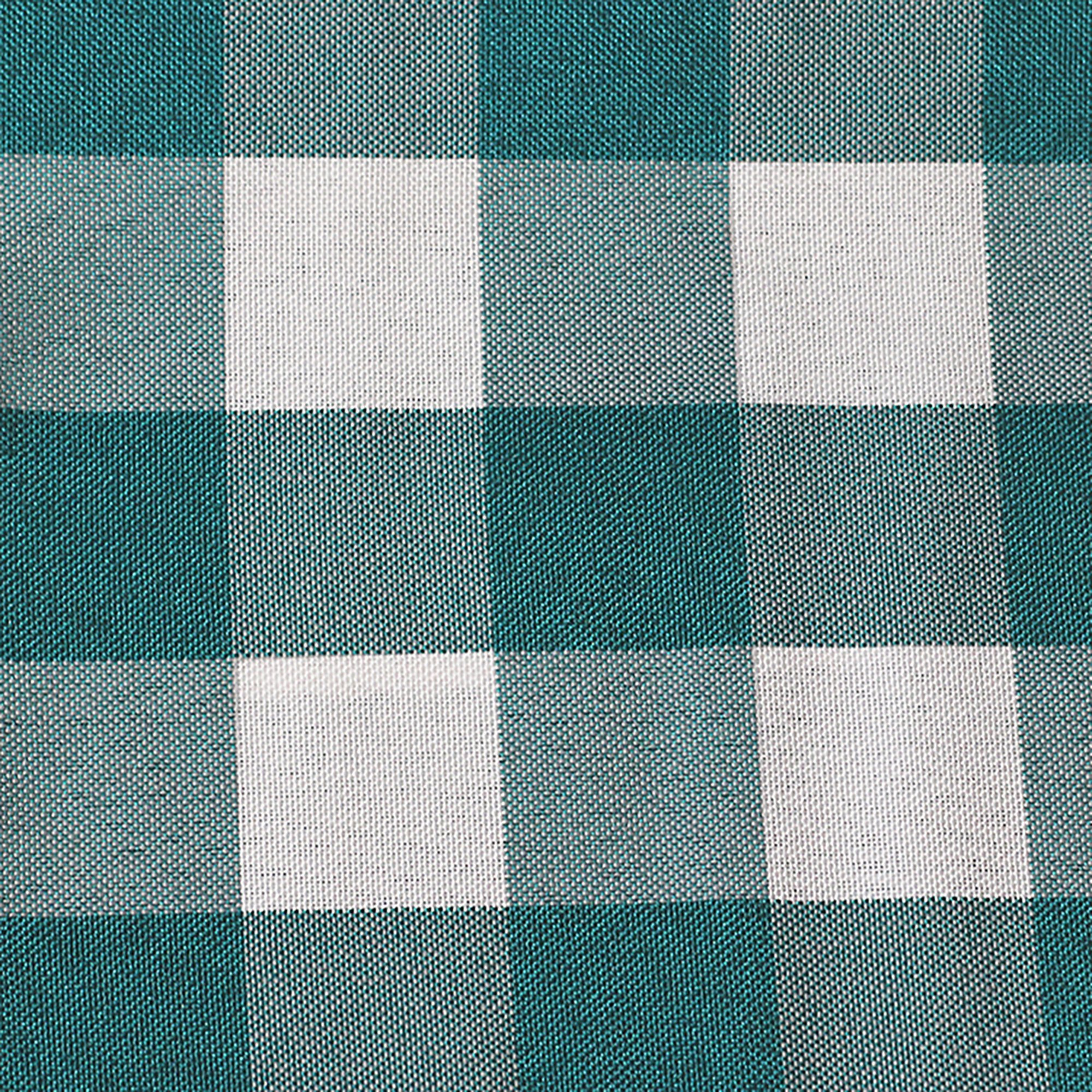 Ultimate Textile -10 Dozen- 10 x 10-Inch Polyester Checkered Cloth Cocktail Napkins, Teal and White by Ultimate Textile (Image #2)