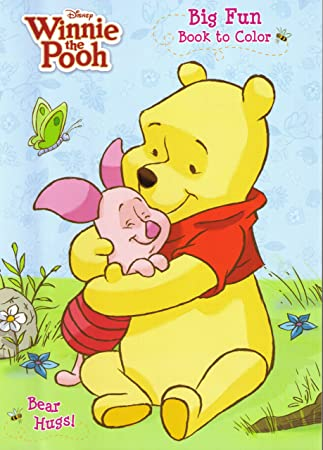 Amazon.com: 4pk Disney\'s Winnie the Pooh Coloring Book 96 Page Each ...