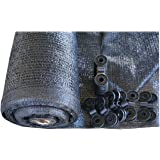 SHANS Shade Cloth Fabric Black 40% Sunshine Ultraviolet blocking rate free Clips (10ft x 10ft)