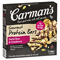 Carman's Gourmet Protein Bar Dark Choc & Cranberry, 5-Pack (200g)