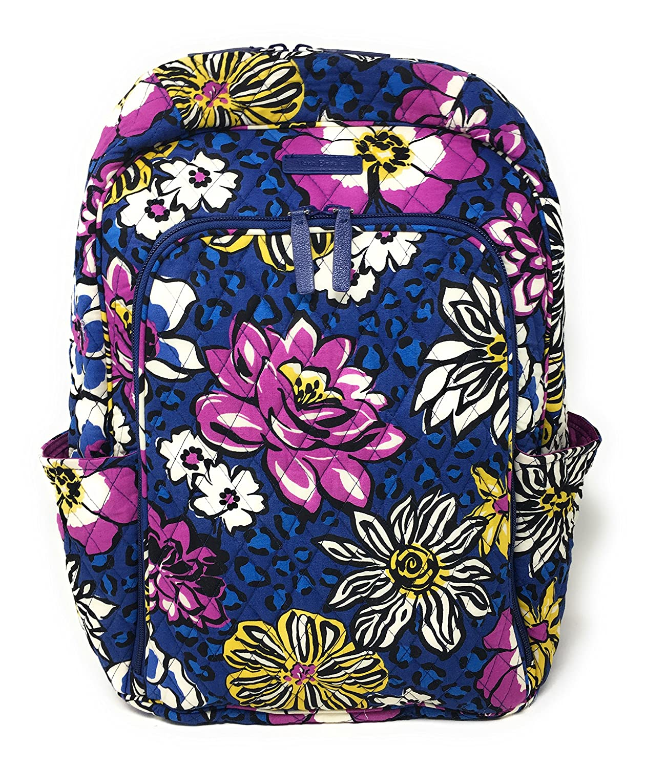 54da6bd92c74 Amazon.com  Vera Bradley Laptop Backpack (Updated Version) with Solid Color  Interiors (African Violet with Purple Interiors)  Shoes