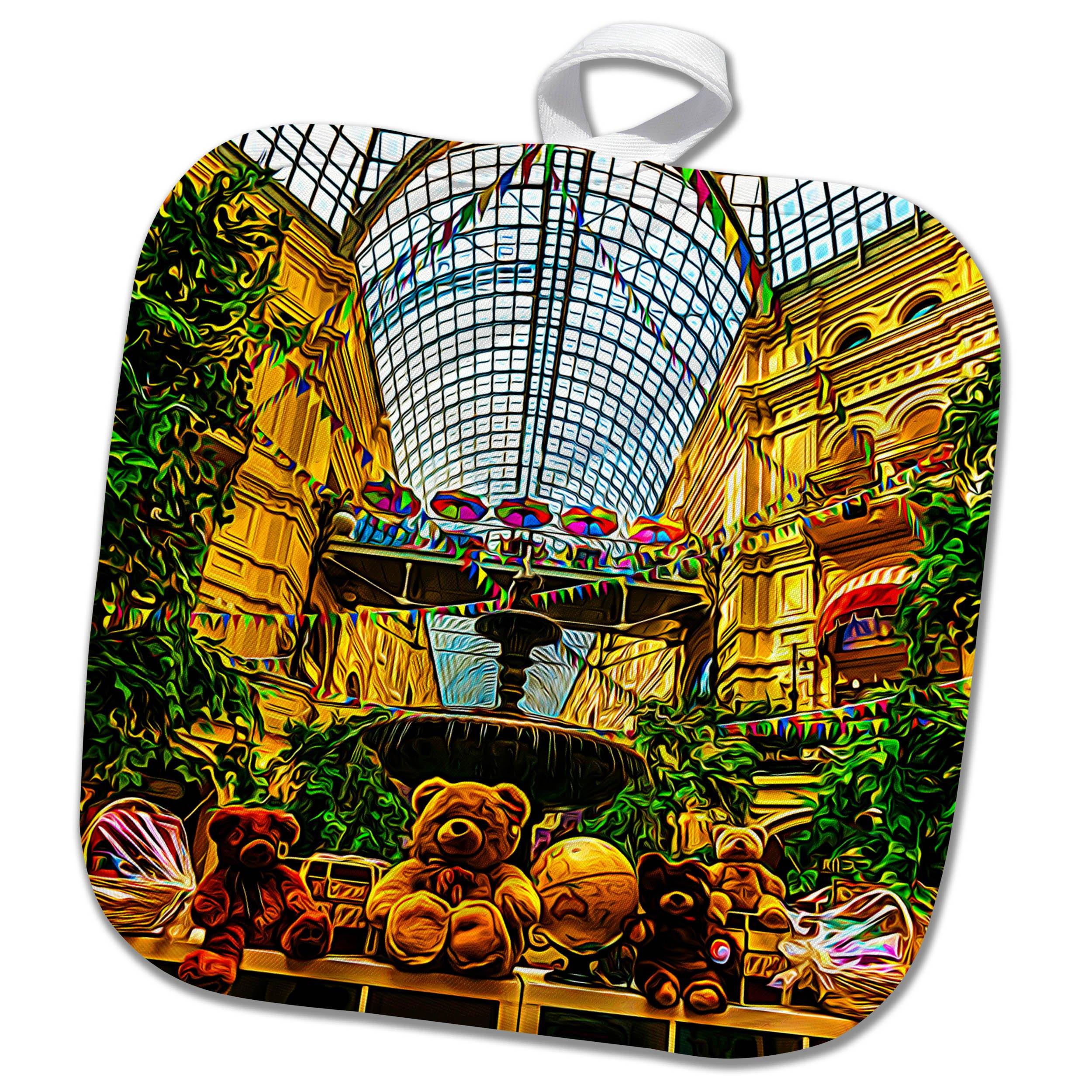 3dRose Alexis Photo-Art - Moscow City 2 - Moscow city art. Shoppers paradise - 8x8 Potholder (phl_273034_1)