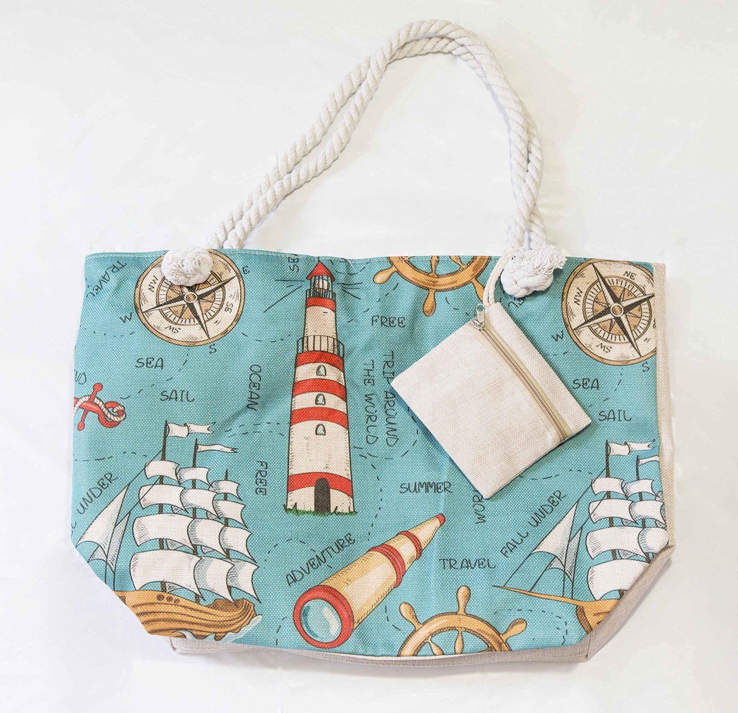 JJMG NEW Summer Beach Bag Stroller Friendly Women's Large Capacity Mom's Tote Beach Shoulder Bag With Rope Handles –Shopping Bag, Diaper Bag, Yoga Bag, Toys, Towels, Swim Suits, etc. by JJMG (Image #7)