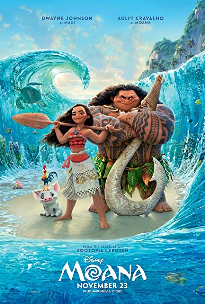 Amazon.com : Moana Movie Poster Limited Print Photo Dwayne Johnson ...