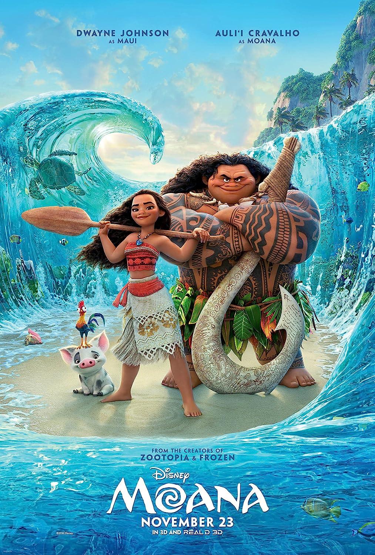 Moana Movie Poster Limited Print Photo Dwayne Johnson The Rock Size 11x17 #1