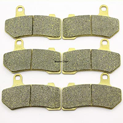 Master Chen Front Rear Brake Pads Brakes for Harley Davidson Touring FLHX Street Glide 2008-2014 FA409FR: Automotive